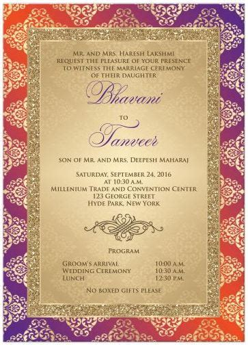 Indian Theme Wedding Invitations by Hindu Indian Wedding Invitations Eastern Fusion Designs