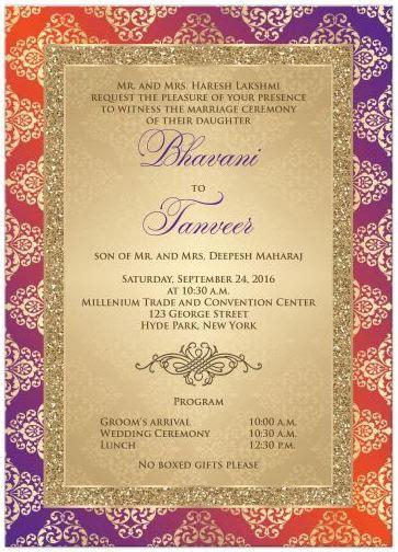 Purple And Orange Wedding Theme