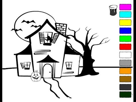 haunted house coloring pages  kids haunted house