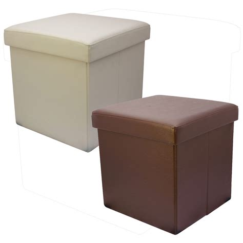 toy storage ottoman 38cm folding storage pouffe cube foot stool seat ottoman