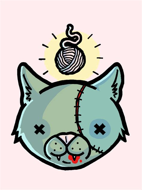 sacred zombie cat by godofgods on deviantart