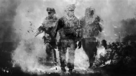 call  duty modern warfare  bw hd wallpaper