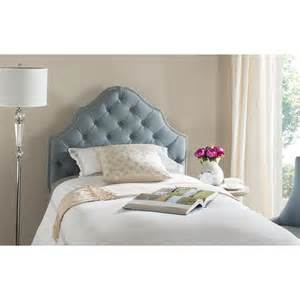 Blue Tufted Headboard Safavieh Arebelle Sky Blue Tufted Headboard