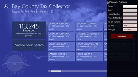 Personal Property Record The Government App Bay County Tax Collector Debutes In The Store Mcakins