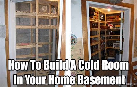 cold room in house how to build a cold room in your home basement investor discussion board idb