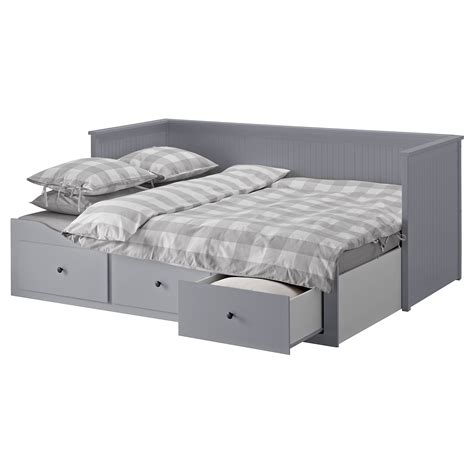 ikea hemnes day bed hemnes day bed w 3 drawers 2 mattresses grey moshult firm
