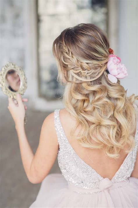 Romantic Hairstyles Down | stunning wedding hairstyles with braids for amazing look