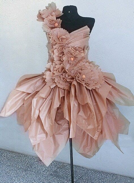 How To Make A Paper Dress To Wear - 17 best images about trashion fashion recycle garbage wear