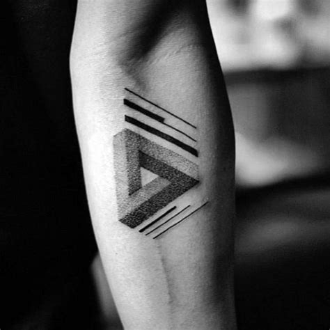 60 penrose triangle tattoo designs for men impossible