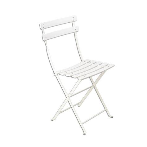 chaise bistro fermob chaise bistro m 233 tal de fermob blanc coton