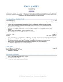 Resume Sle Template by Resume Formats Jobscan