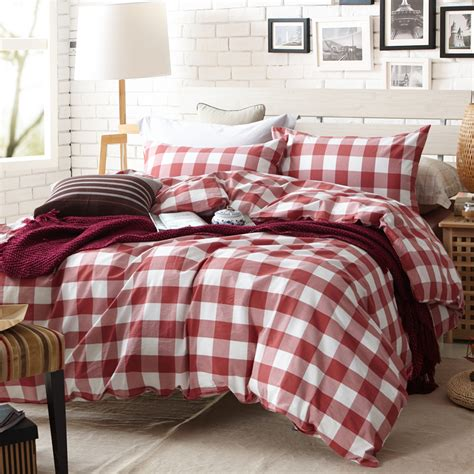 red plaid comforter online get cheap red plaid bedding aliexpress com