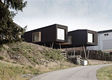 Raised House by Austrian S House Is Elevated On Stilts So A Lush Garden