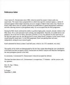 7 reference letter templates free sle exle
