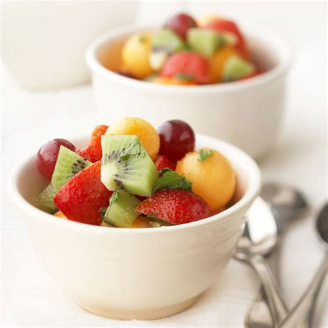 Fruit Salad Small strawberry studded salads