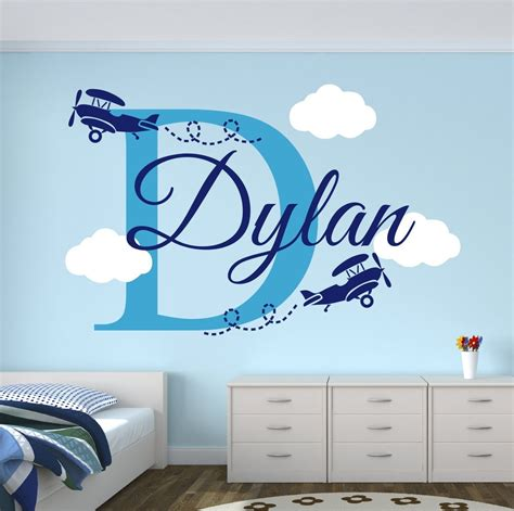 Nice Baby Bedroom With Aviation Wall Decor Home Decorations | nice baby bedroom with aviation wall decor home