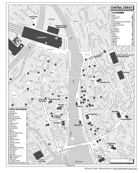 printable map zurich map of zurich switzerland free printable maps