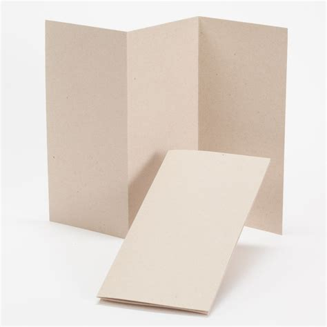 Tri Fold Card Stock Paper - impressions kraft tri fold program 4 x 8 folded 100