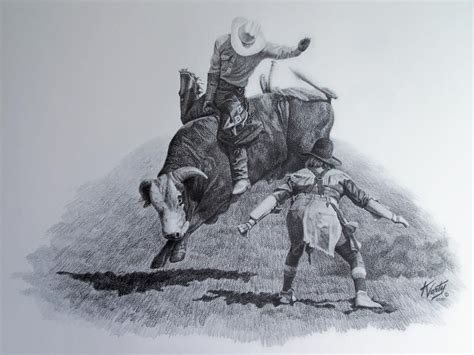 Rodeo Bull Drawings