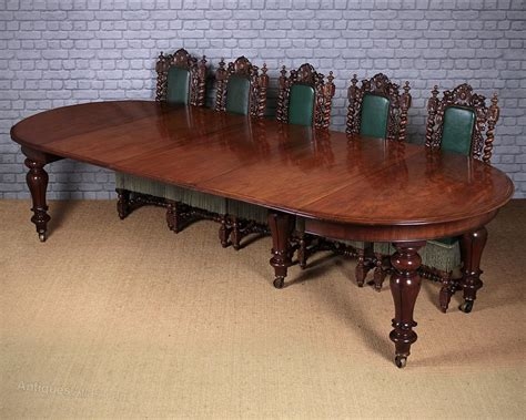 12 Seater Dining Tables 12 Seater Extending Mahogany Dining Table C 1860 Antiques Atlas