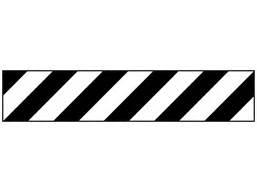 laminated warning tape, black and white chevron. | tt1010