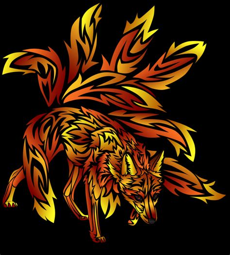 9 tailed fox tattoo nine tailed fox by blue spirit on deviantart
