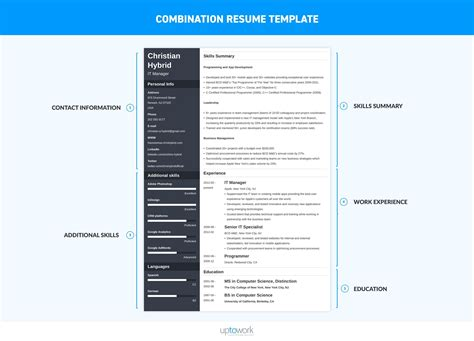 Combination Resume Template 2018