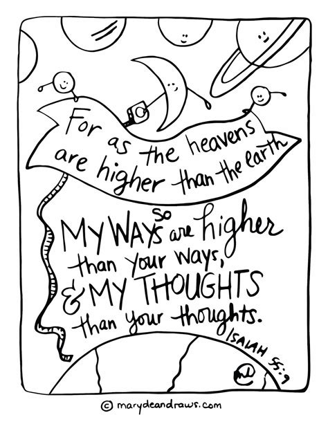 scripture coloring pages isaiah 55 9 printable scripture coloring page marydean