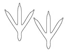 bird feet pattern use the printable outline for crafts