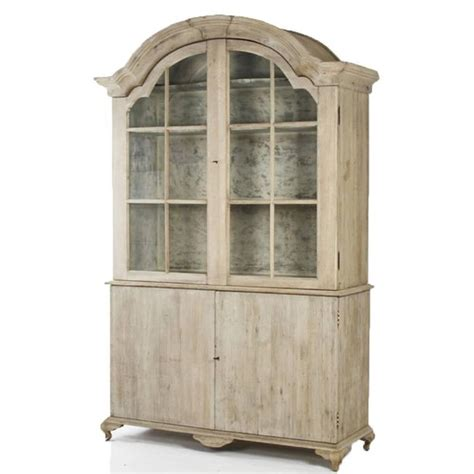 Large Bookcase With Glass Doors Large Distressed Hugh Cabinet Bookcase W Glass Pane Doors At 1stdibs