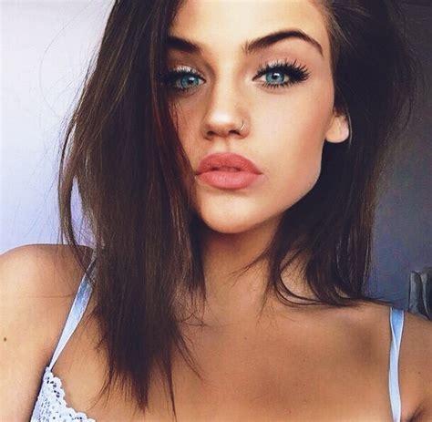 women jaw line hair beautiful beauty eyes fashion girl image 3664013 by