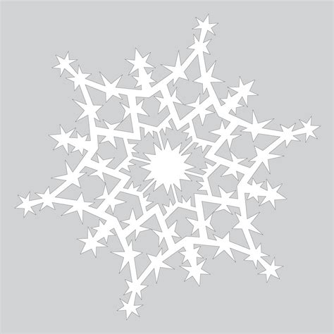Snowflake Craft Paper - how to make sparkling paper snowflake pattern free