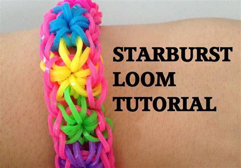 doodle draw loom bands loom bands starburst loom bracelet tutorial l jasminestarler