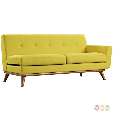 Left Facing Sectional Sofa Engage Left Facing Button Tufted Sectional Sofa With Wood Frame