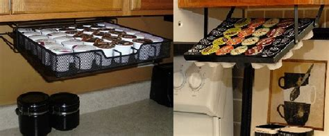 under cabinet cup holder under the cabinet k cup holders koffee kingdom