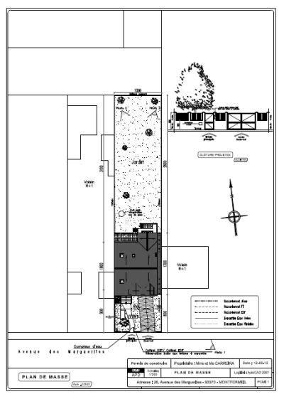 Etudes, conception et saisie des plans : permis de