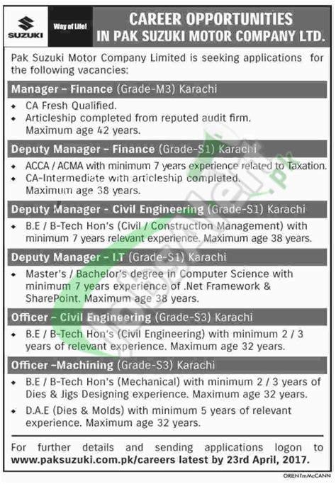 suzuki motors in pakistan www paksuzuki pk paksuzuki pk apply 2017
