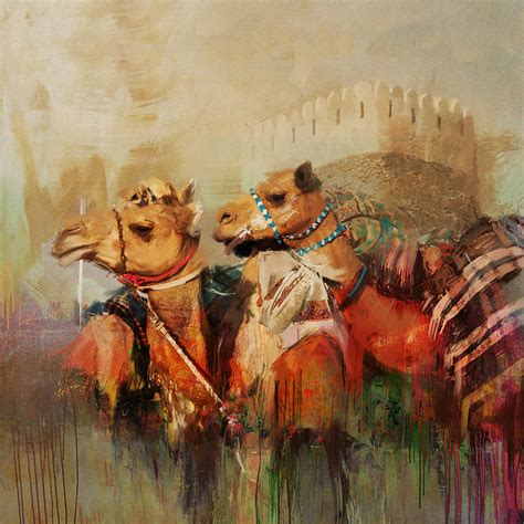 28 paintings for sale buy original archive original camels and desert 28 painting by mahnoor shah