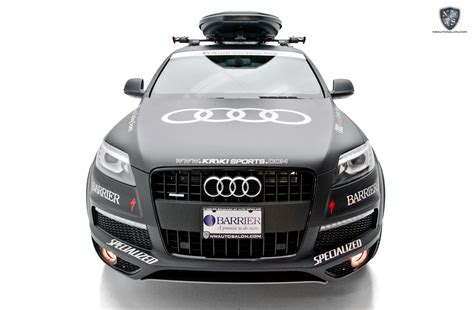 audi cycling team q7 tdi receives a complete satin wrap