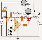 USB 37V Li Ion Battery Charger Circuit  Auto Cut Off