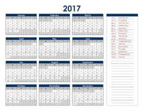 2018 Calendar In Excel 2017 Excel Yearly Calendar Free Printable Templates