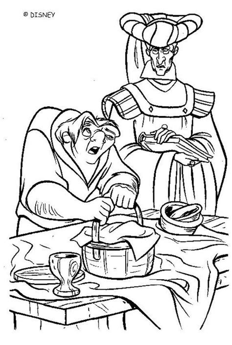 disney coloring pages hunchback notre dame quasimodo and claude frollo coloring pages hellokids com