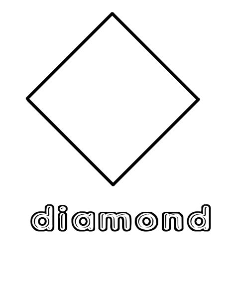 diamond coloring pages preschool free coloring pages of tracing diamond