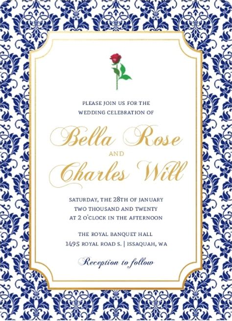time frame for mailing out wedding invitations royal blue damask frame wedding invitation wedding