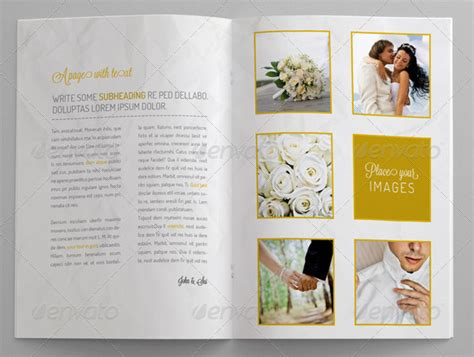 wedding brochures templates free wedding invitation brochure wedding invitation ideas