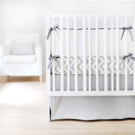 Gray And White Crib Bedding Set by White And Gray Baby Bedding Gray Crib Bedding Grey And