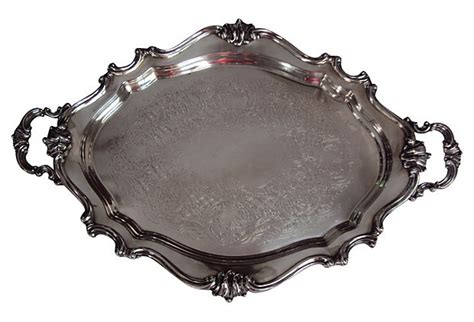 reed and barton reed and barton silverplate tray cook antiques