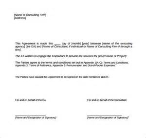 consultant contract template free consulting contract template 11 free sle exle