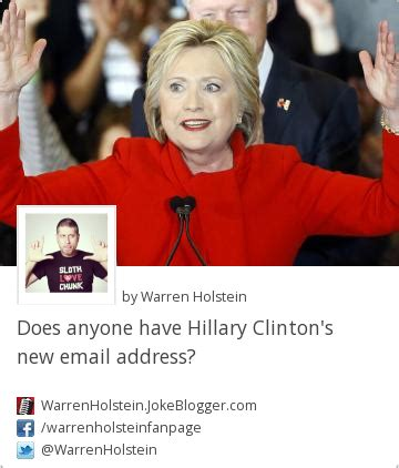 hillary clinton mailing address joke does anyone have hillary clinton s new email