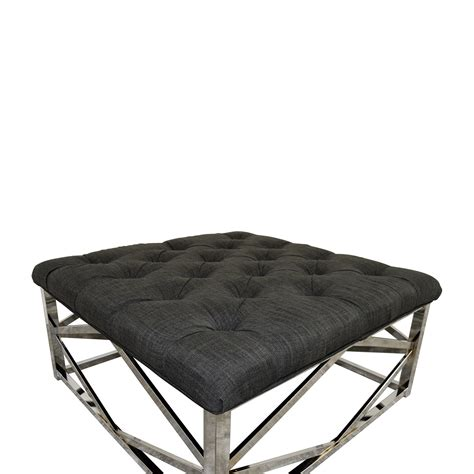 Grey Ottoman Coffee Table 61 Inspire Q Inspire Q Bold Solene Grey Tufted Square Ottoman Coffee Table Chairs